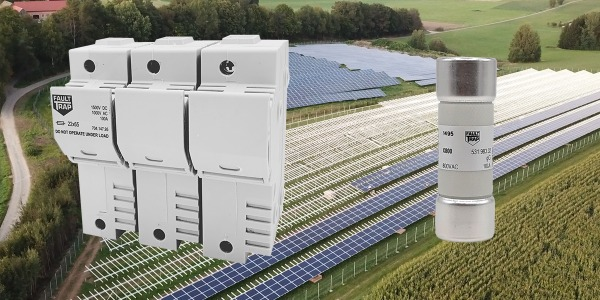 Fuses and fuse holders for auxiliary circuits of 800V AC photovoltaic applications